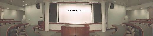Photograph of an Electronic Classroom (209 Havermeyer)